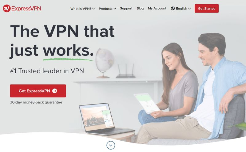 ExpressVPN login screen